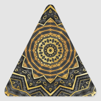 Black sapphire mandala triangle sticker