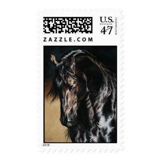 Black Satin stamps - Friesian Horse!!!