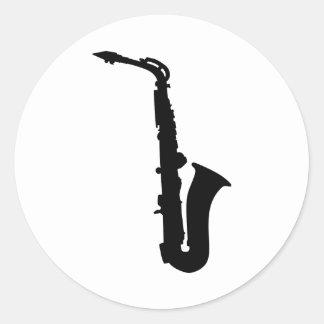 Black saxophone instrument stickers