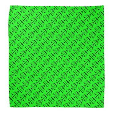 Lawyer Themed Black Scales of Justice on Lime Green Bandana