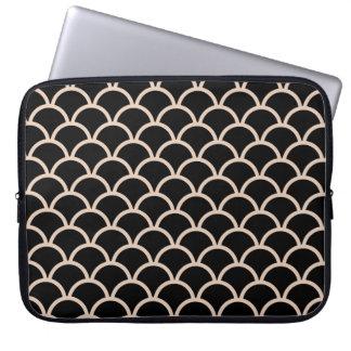 Black Scallop Pattern Computer Sleeve