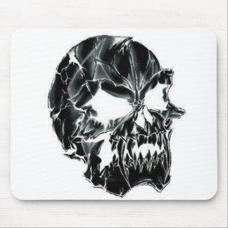 Black Scary Evil Deadly Skull Mousepad