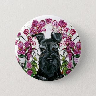 Black Schnauzer Bouquet Button