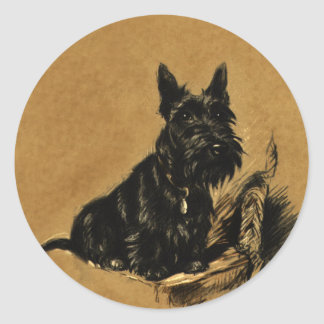 Black Schnauzer Classic Round Sticker