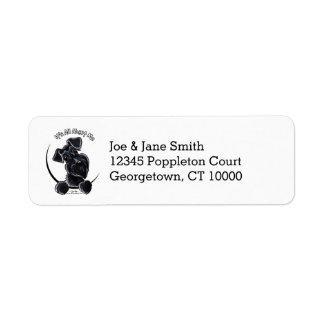 Black Schnauzer IAAM Return Address Label