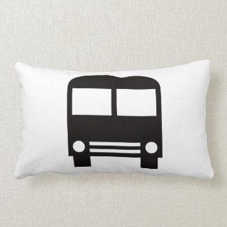 Black School Bus Lumbar Pillow