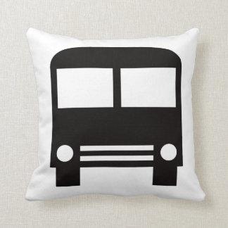 Black School Bus Throw Pillow