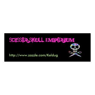 Black Scissor Skull Profile Card