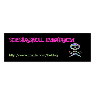 Black Scissor Skull Profile Card Double-Sided Mini Business Cards (Pack Of 20)