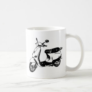 Black Scooter Coffee Mugs