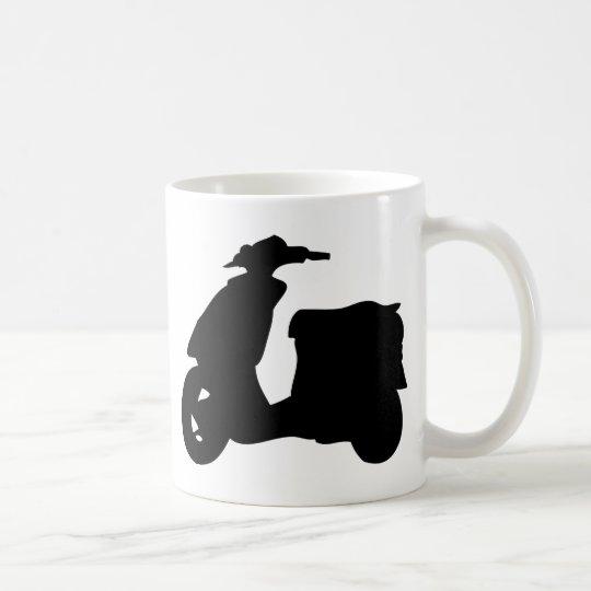 black scooter icon coffee mug