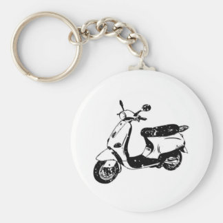 Black Scooter Keychain