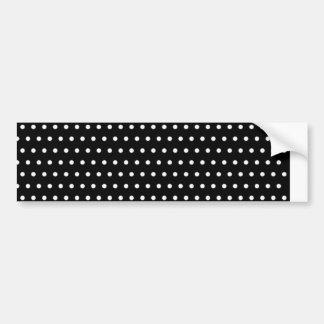 black scores polka dots scored dotted tup bumper sticker