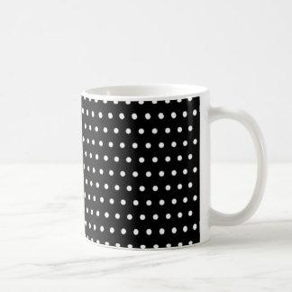 black scores polka dots scored dotted tup coffee mug