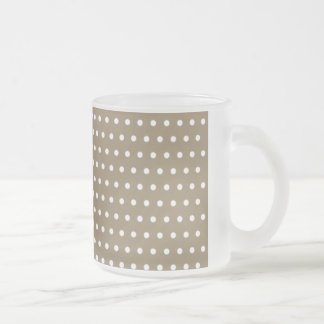 black scores polka dots scored dotted tup frosted glass coffee mug