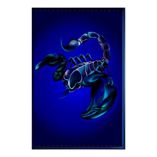 Black Scorpion Large Poster