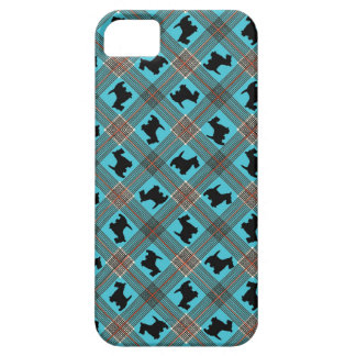 Black Scottie Dog Plaid Tartan iPhone SE/5/5s Case