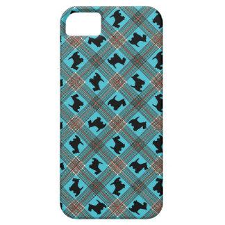 Black Scottie Dog Plaid Tartan iPhone SE/5/5s Case