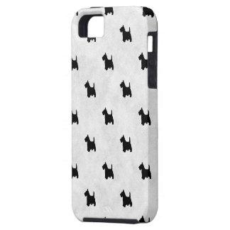 Black Scottie Dogs Tile Pattern for Pet Lovers iPhone SE/5/5s Case