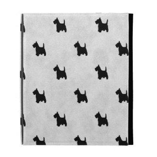 Black Scottie Dogs Tile Pattern iPad Case