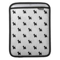 Black Scottie Dogs Tile Pattern iPad Sleeve