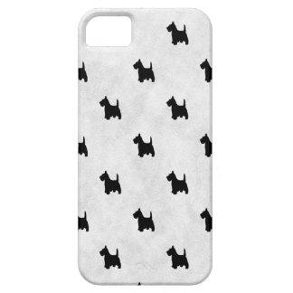 Black Scottie Dogs Tile Pattern iPhone SE/5/5s Case