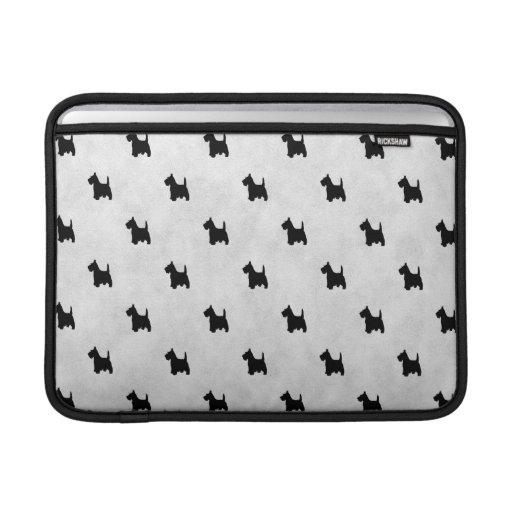 Black Scottie Dogs Tile Pattern MacBook Air Sleeve
