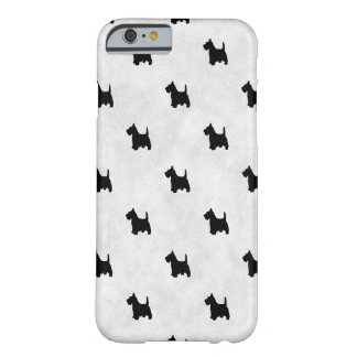 Black Scottie Dogs Tile Pattern Pet Lover Barely There iPhone 6 Case