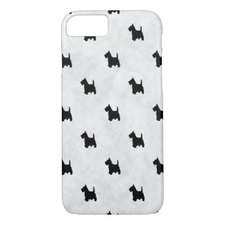 Black Scottie Dogs Tile Pattern Pet Lover iPhone 7 Case