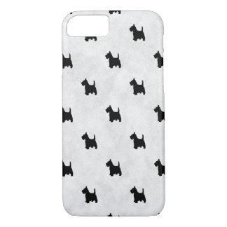 Black Scottie Dogs Tile Pattern Pet Lover iPhone 7 Case
