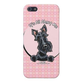 Black Scottie IAAM iPhone SE/5/5s Cover