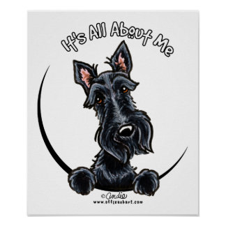 Black Scottie IAAM Poster