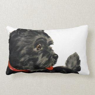 Black Scottie Lumbar Pillow