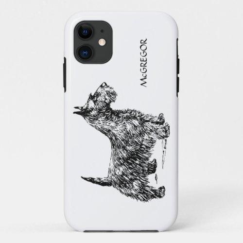 Black Scottie Scottish Terrier Dog Breed Custom Phone Case