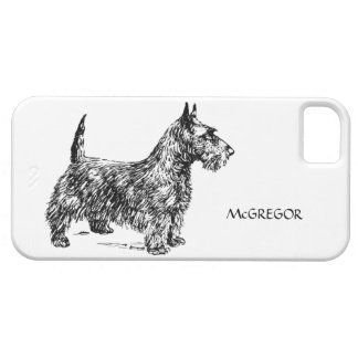 Black Scottie Scottish Terrier Dog Breed Custom iPhone SE/5/5s Case