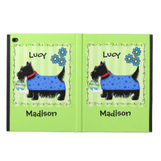 Black Scottie Terrier Dog Name Personalized Green Powis iPad Air 2 Case