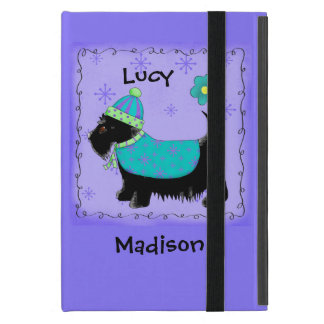 Black Scottie Terrier Dog Name Personalized Purple Cases For iPad Mini