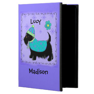 Black Scottie Terrier Dog Name Personalized Purple Powis iPad Air 2 Case