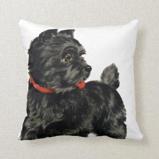 Black Scottie Throw Pillow