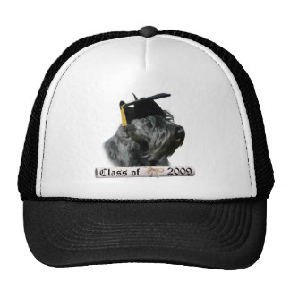 Black Scottish Terrier Grad 09 Mesh Hats