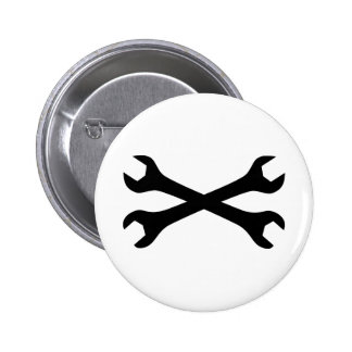 Black Screw Wrench crossed Button