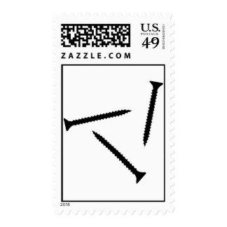 Black screws postage stamps