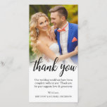 "Black Script Wedding Photo Bride Groom Thank You<br><div class=""desc"">Black Script Wedding Photo Bride Groom Thank You Card Long</div>"