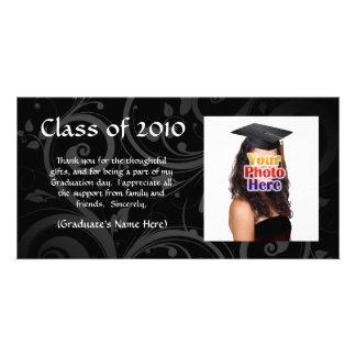 Black Scroll Graduation Announcement/Thank You Photo Card