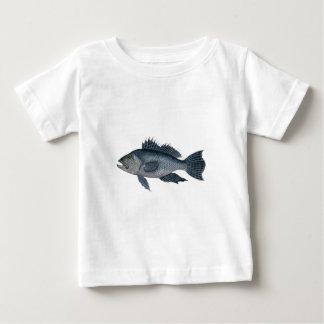 black sea bass 3  signed 2442.jpg baby T-Shirt