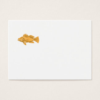Black Sea Bass Drawing Business Card