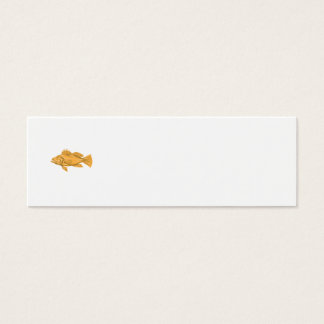 Black Sea Bass Drawing Mini Business Card