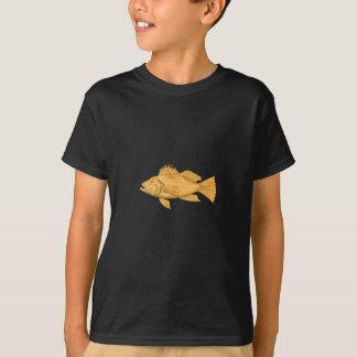 Black Sea Bass Drawing T-Shirt