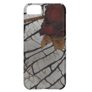 Black Sea Fan With Red Rose iPhone Universal Case