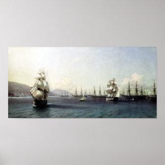 Black Sea Fleet in the Bay of Theodosia Poster